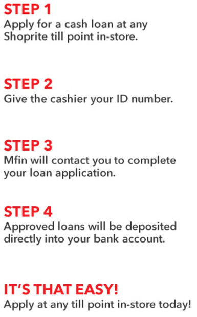 how to apply shoprite loan